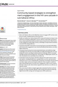Community based strategies sub-Saharan Africa